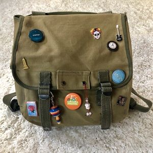 Vintage Military Canvas Backpack